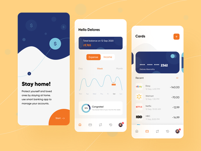 Banking app stayhome financial app finance app ios mobile ui mobile app ui uidesign app design app finance banking bankingapp banking app