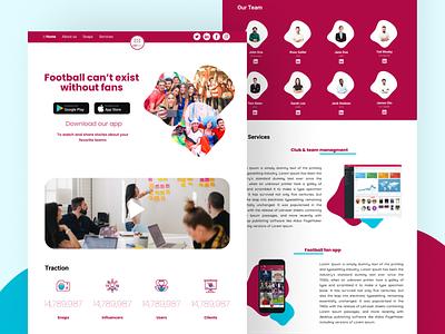 Fanera web design figma uidesign ui design redesign design uiux ux ui dribbble soccer app soccer football app football 2020 webdesign website web