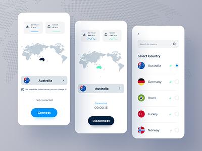 World VPN mobile app design app design uxdesign uidesign vpn app