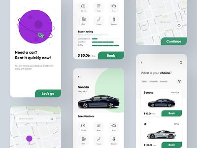 Carstar app ui mobile ui uidesign uiux car rent car rental mobile app app design