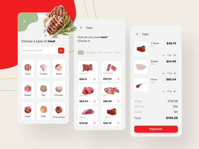 Meat Shop butchery meat meat shop uidesign ui app design app