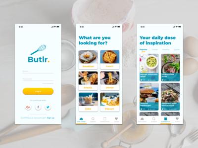 Butlr. Recipe app