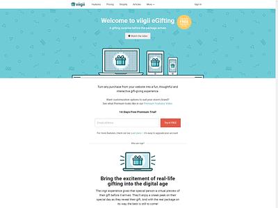 Viigii digital gift website web ux ui design nascenia ecommerce web development web design api mysql ruby on rails viigii