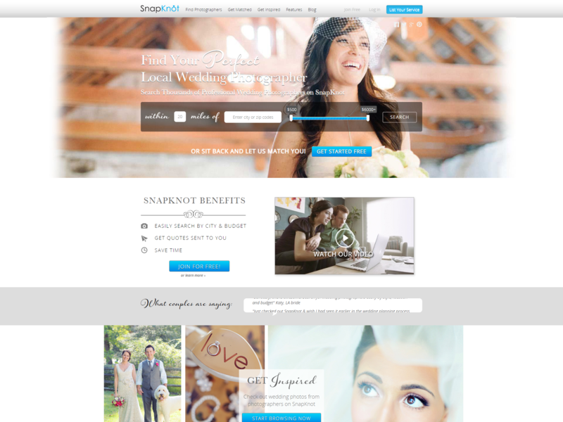 Snapknot nascenia wedding photography mysql ruby on rails ux ui web design website photography snapknot