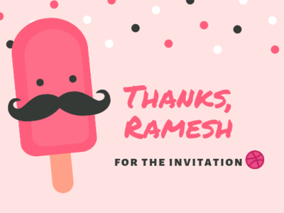 Thank You For The Invitation thanks for invite thankyou nascenia dribbble invitation dribbble invite @thinkwithramesh