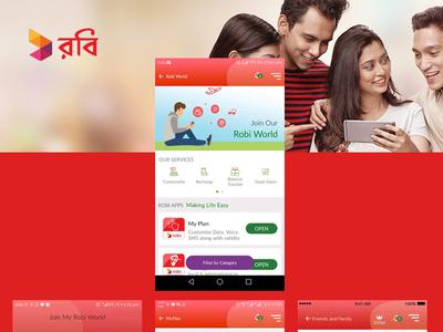 Digitization of Robi App application nascenia postgresql api puma rubyonrails android ios bangladesh telecom operator app development digitization of robi app robi