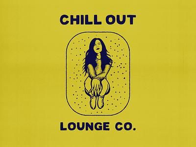 Chill Out Lounge Co. company lounge chill girl design for good apparel apparel design tee design artworkforsale design for sale vintage type artwork vector illustration typography lettering branding logo design