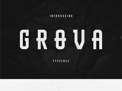 Grova Typeface type logo web ux ui branding design font typography lettering