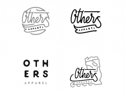 Others LOGO Concept lettering clean design minimal flat ux ui vector illustration icon font typography logo type branding