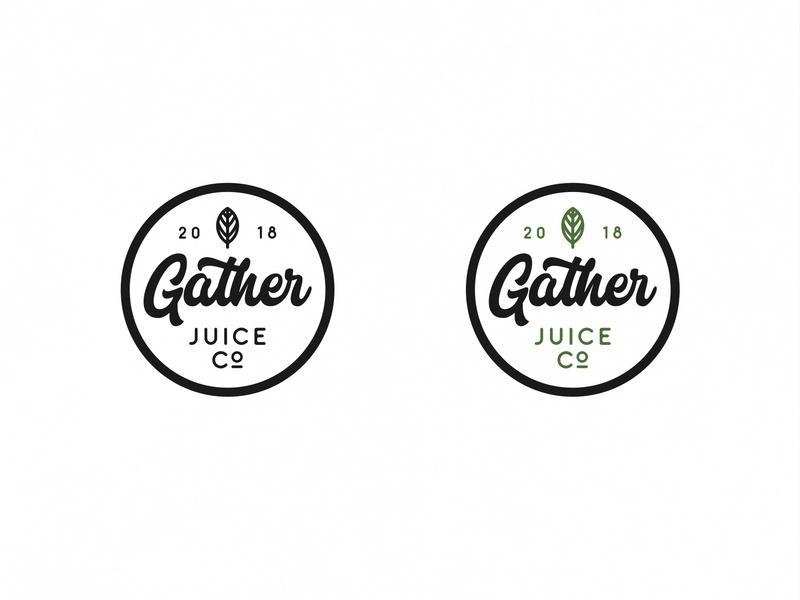 Gather Juice Co juice logo illustration icon vector typography design lettering branding