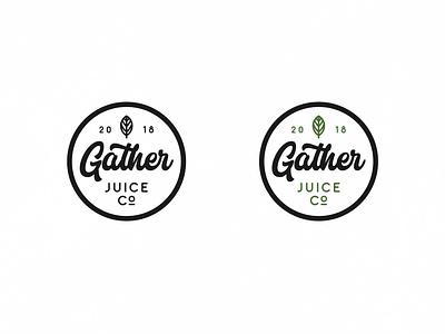 Gather Juice Co juice logo illustration icon vector typography design lettering branding