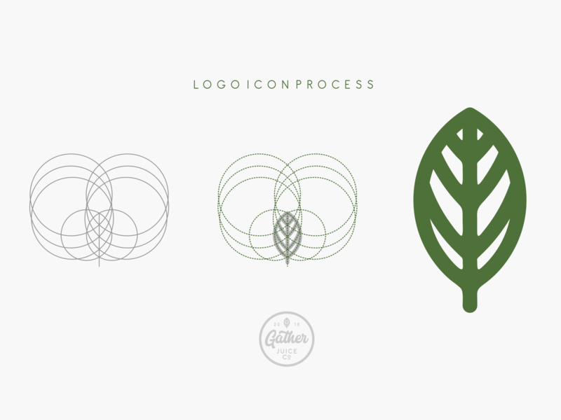 Gather Juice Co. Logo Icon process branding flat illustration typography web icon vector lettering logo design