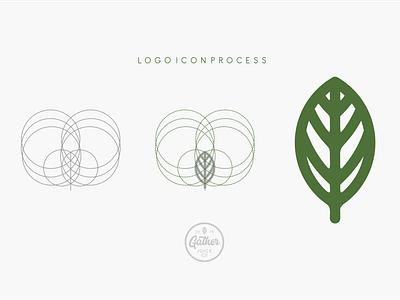 Gather Juice Co. Logo Icon process branding flat illustration typography web icon vector lettering logo design