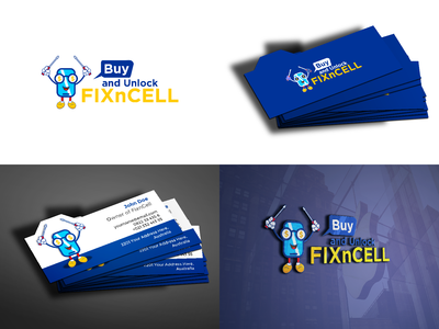 Logo and Bussiness Card design concept for FixnCell company