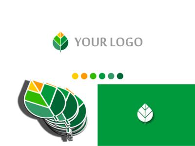Leaf Green Logo Design