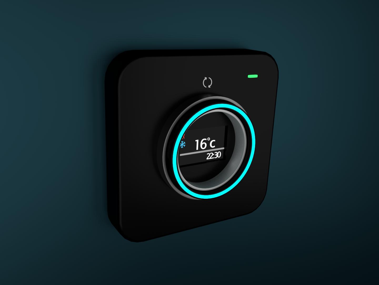 Thermostat Minimal Design home render led product design cyclesrender blender3d 3d artist design minimalism minimal thermostat