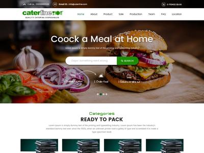 Online order food website design