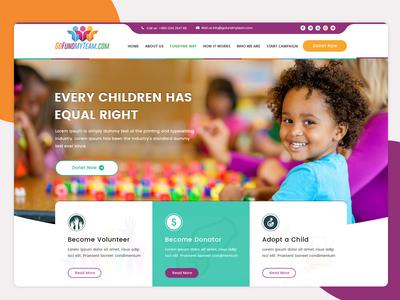 Non-profit Charity website