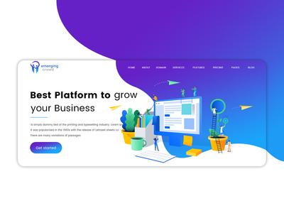 B2B Website Design Header