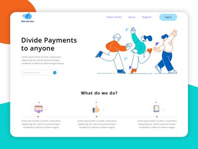 Divide Payments gateway website design layout