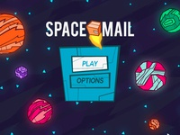 Space Mail - Start Screen