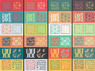 Kanji Memo - Colors ux ui pattern colortest colors color sketch scribble illustration design