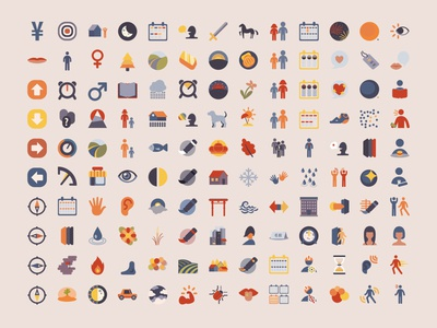 Kanji Memo - Icons icon set iconset icons vectors vector illustration vector vector art minimalism flat vectorart ux ui traditional illustration traditional sketch scribble minimalistic art minimalismus design icon