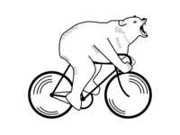 Bear On Bicycle