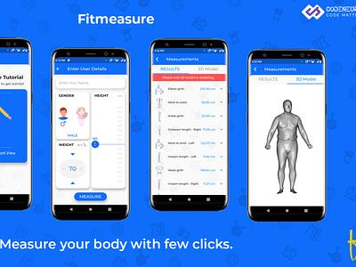 Fitmeasure - Human body AI measurement human body measuring app 3d modeling human body ai apps ai apps ios android app app ui