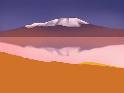 Bolivian Story pink travel south america bolivia travel illustration landscape digitalart applepencilillustration applepencil illustration digital procreate illustration