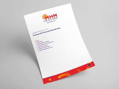 Migraine Management logo logo design event print migraine event branding pattern design design illustration branding