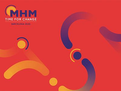 Migraine Management orange graphicdesign event pattern logo design logo vector design illustration digital branding illustration event branding