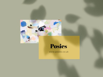 Posies florists business card floral brand identity brand branding design graphicdesign pattern design abstract illustration design branding