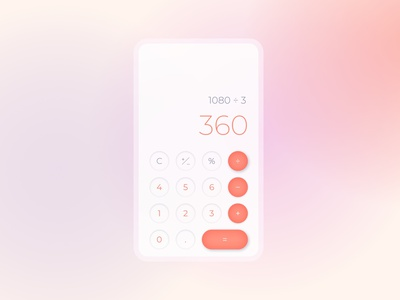 Calculator app calculator app gradient neomorphism neomorphic calculator user interface design ux uiux ui design dailyuichallenge dailyui