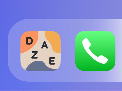 Daze App Icon Mockup Zoom2 daily ui dailyuichallenge dailyui pastel icon app design app icons user interface ui design app icon ios app sketch ux ui
