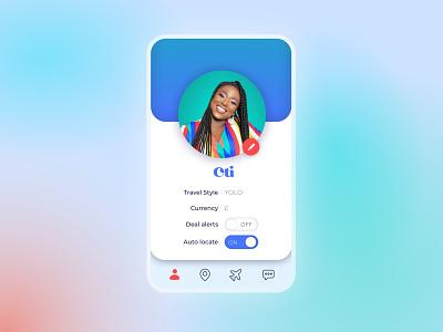 #DailyUI 006 Profile Screen - Travel App travel mobile ui digital design design typography neomorphic sketch app design travel app profile card profile user interface uidesign dailyuichallenge dailyui ux ui