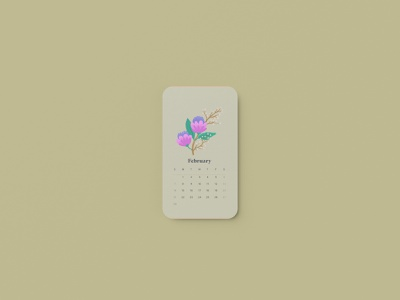 February 2021 Calendar florals digitalart procreate flat applepencil sketch madewithprocreate flowers pastel 2021 february 2021 calendar floral illustrator illustration