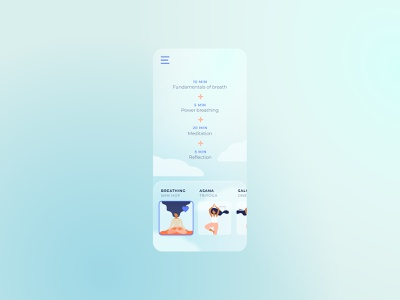 041  #DailyUI Mindfullness Workout Tracker ux ui illustration app design illustration digital ui design branding dailyuichallenge design dailyui