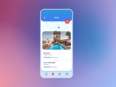 067  #DailyUI Travel App - Hotel Booking travel app ui map hotel travel app app booking travel branding app design ui ui design design dailyuichallenge dailyui