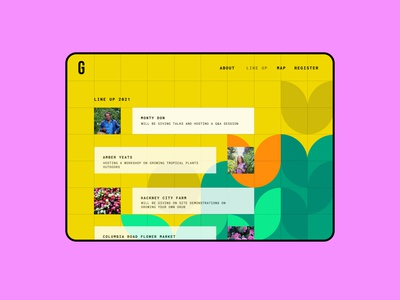 070  #DailyUI Event Listing event listing event graphic design figma geometric illustration geometric event app garden illustration digital app design illustration ux ui ui design design dailyuichallenge dailyui