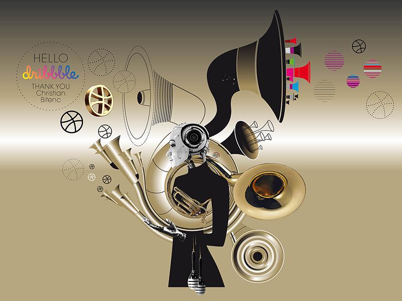 Km7 Dribbble Debut illustration music packaging design