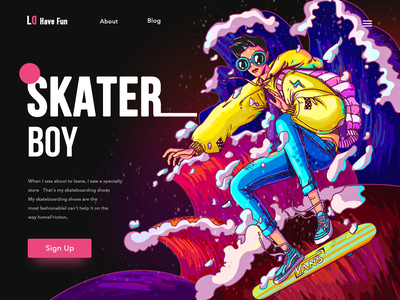 Skateboard boy skateboard boy web ui icon typography 品牌 应用 design 插图 设计 illustration