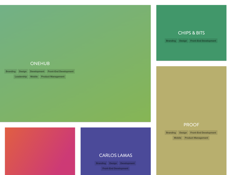 Tags on Hover tags cards gradients grid reboot portfolio