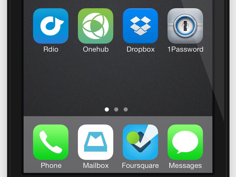 Onehub App Icon onehub icon app icon ios 7
