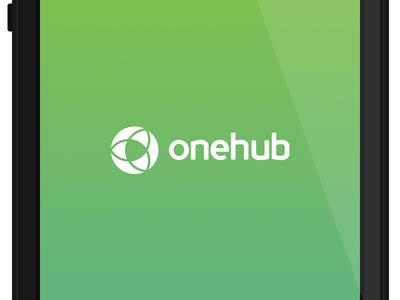 Onehub Launch Screen onehub logo launch screen ios 7