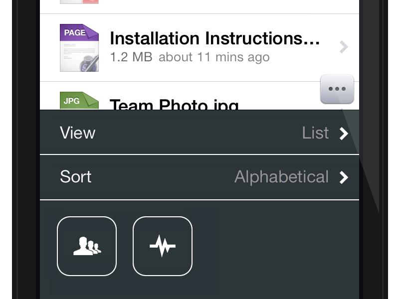 Onehub ios7 file settings