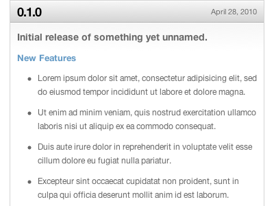 Release Notes onehub gray text-shadow sparkle linear-gradient