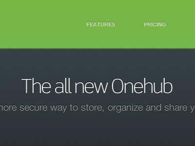 The all new Onehub linear-gradient text-shadow navigation billboard scene heading