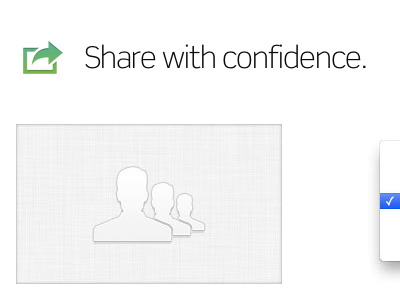 Share with confidence scene linen icon share users inset