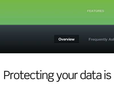 Protecting your data is selected linear-gradient nav scene